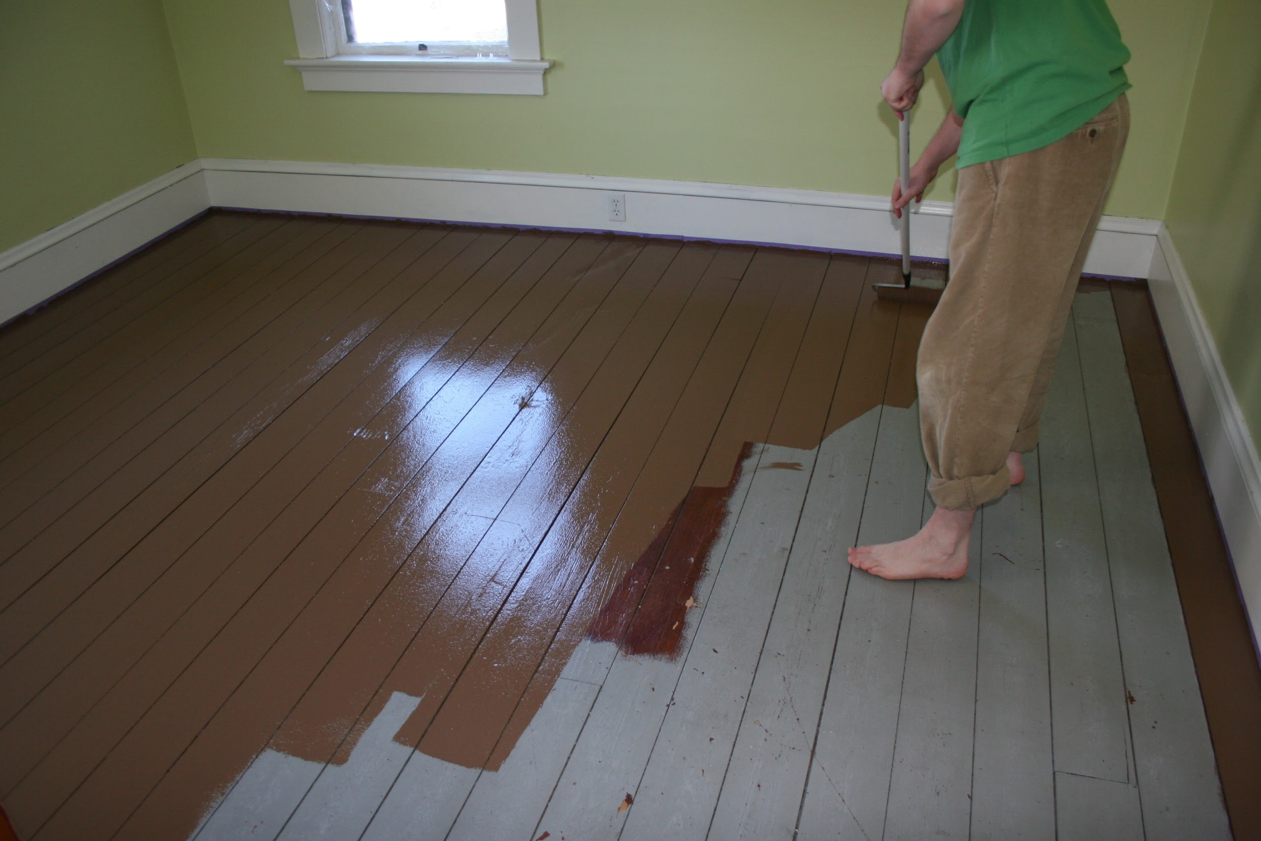 Why you should consider painted floors for Paint old vinyl tile floor